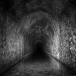 Brick-layers lining the interior of Big Bend Tunnel often stopped work after word of sightings of the ghost of John Henry flared. Photo courtesy Levi Moore.