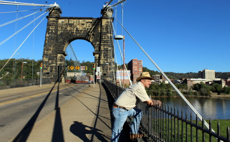 David Sibray reflects on the diversity of Wheeling, West Virginia, while visiting the Wheeling Suspension Bridge.