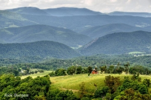 The Allegheny Mountains rise beyond the Potomac Valleys. Photo courtesy Rick Burgess.