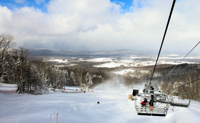 The Canaan Valley extends north from the ski area at Canaan Valley Resort State Park.