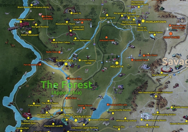 Mapping Fallout 76: John Barton explores The Forest
