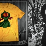 A Flatwoods Monster T-shirt is one of many being marketed by Bowski Graphics.