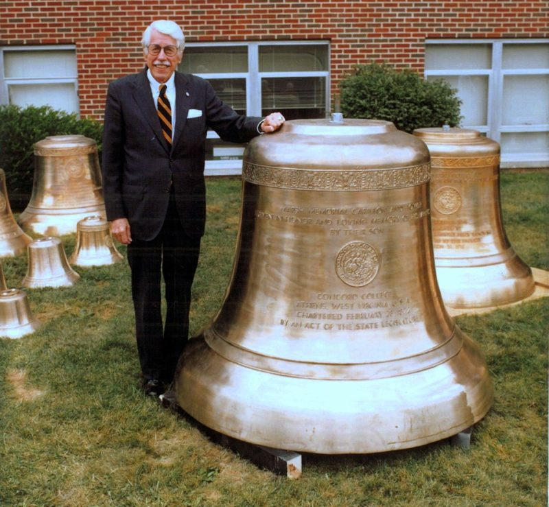 Forty-eight bells, include a 2.96-ton bourdon, hang in the bell tower at Concord University.