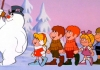 Frosty the Snowman leads a group of children in the 1969 animated Christmas television special b Rankin/Bass Productions.