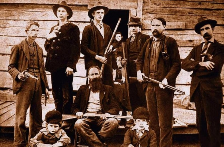 """Surrounded by kin, """"Devil Anse"""" Hatfield engaged in a feud that brought worldwide attention to Appalachia."""