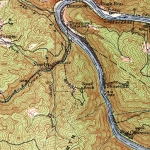 A 1913 USGS map shows the town of Dun Glen as it appears alongside Swell Knob.