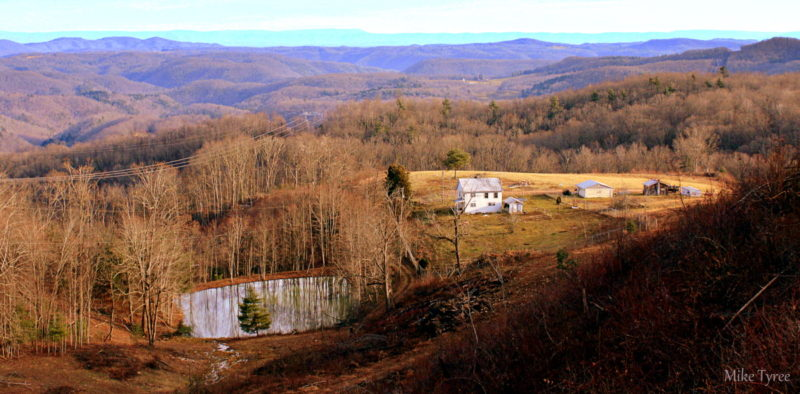 An early winter landscape extends southward from Flat Top Mountain across Summers County. Photo courtesy Mike Tyree.