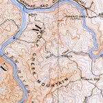 USGS Map showing Wolf Creek Mountain 1892