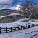 Winter visits the Alleghenies on the Highland Scenic Highway, often impassible through much of winter.