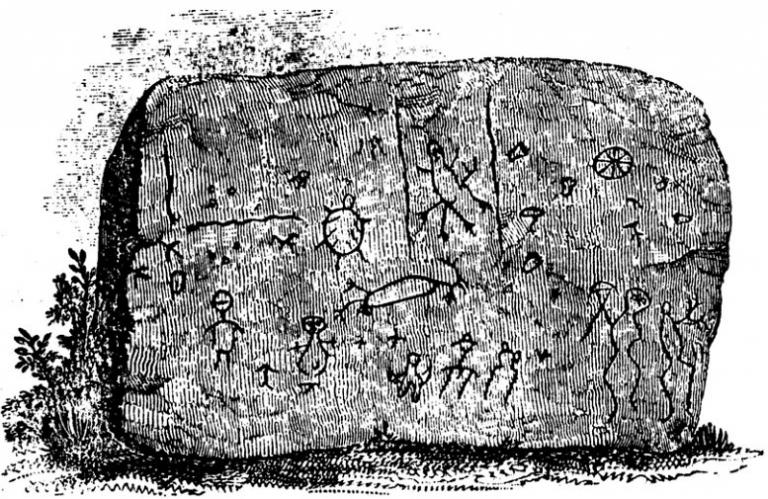 Strange carvings greeted early West Virginia explorers