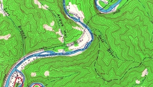 The Salt River and nearby Lost Branch appear on a 1968 map of the Guyandotte River.