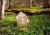 A headstone sales in a sea of periwinkle near Grandview, West Virginia (WV).