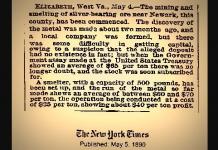 Wirt and Jackson counties experienced a failed silver rush in the late 1800s.