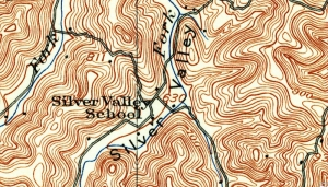 Silver Valley appears on a 1926 topographic map of Jackson County, West Virginia.