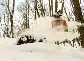 Snowboarder at Canaan Valley Resort