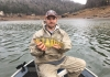 Clinton Mills of Ravenswood, West Virginia, with his state record yellow perch.