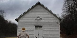 David Sibray visits the Ebenezer Church beyond the Low Gap at the head of Skull Run.