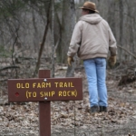 The Old Farm Trail near Beckley, WV, was named for the location of an old farm, the ruin of which can be found nearby.