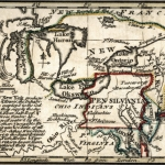 Map of New York and Pennsylvania, Emanuel Bowen, 1758
