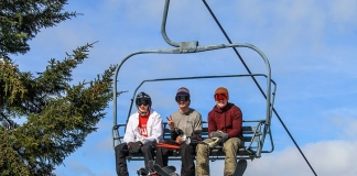 Youth ride a lift at Canaan Valley Resort. Photo courtesy Canaan Valley Resort.
