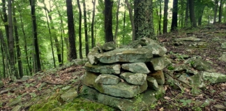Cairn on a West Virginia ridge. Photo courtesy Charity Moore.