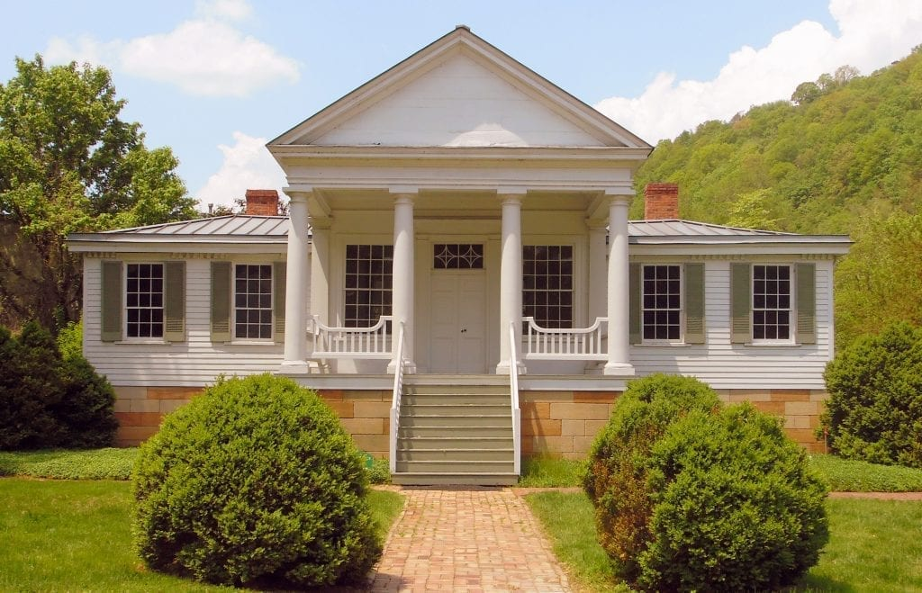 The first board-built home in Charleston, the Craik-Patton House still stands near Daniel Boone Park.