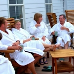 Guests relax after a session in the spa at Capon Springs and Farms.