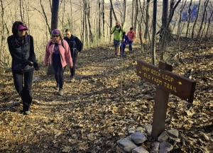 Hikers on a spring expedition near Beckley. Photo courtesy Active Southern West Virginia.