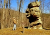 David Sibray visits Old Stone Face at North Bend State Park near Cairo, West Virginia.