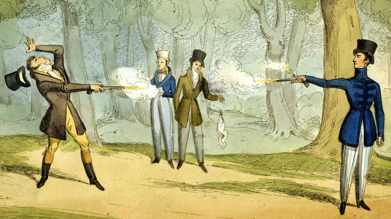 Dueling was not popular in West Virginia, though the Moore-Burnham Duel was notably undertaken at Clarksburg in 1810.