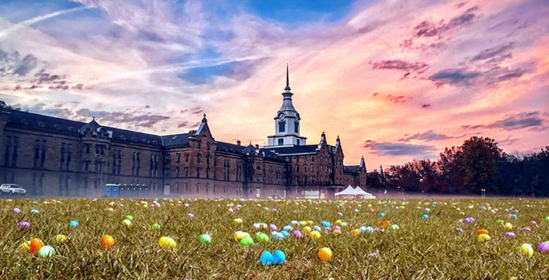 More than 400 children are expected to attend the egg hunt at the Trans-Allegheny asylum.