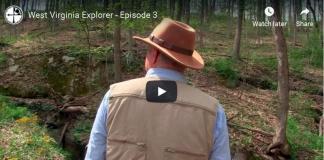David Sibray explores a natural bridge in Roane County.