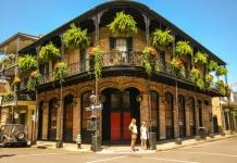 Tourists explore New Orleans, Louisiana, a famous U.S. melting-pot city.