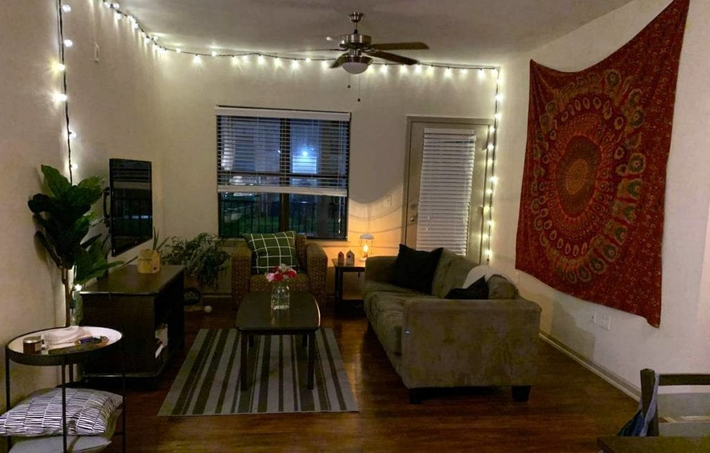 An Airbnb room awaits guests in Morgantown, West Virginia. Photo courtesy Airbnb.com.