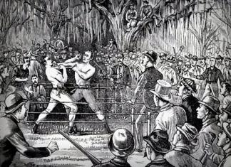 Prize-fighter Yankee Sullivan bested Bob Caunt near Harpers Ferry, West Virginia.