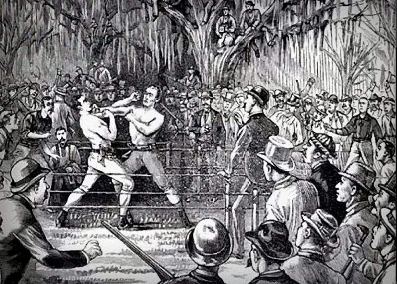 Prize-fighter Yankee Sullivan bested Bob Caunt near Harpers Ferry, West Virginia.