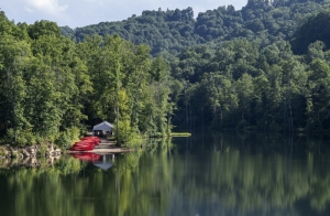 A quiet cove awaits campers at the Summit Bechtel Reserve.
