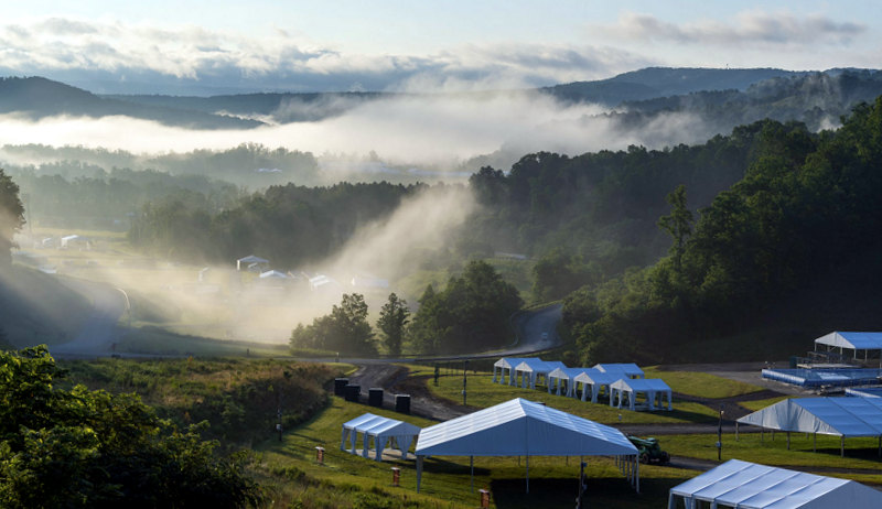 Dawn breaks over the Summit Bechtel Scout Reserve, home of the 2019 World Scout Jamboree. Photo courtesy Boy Scouts of America.