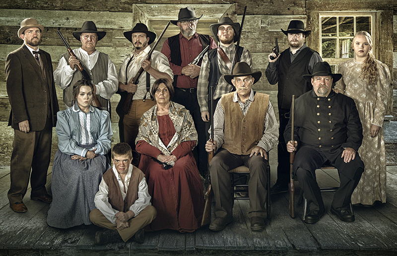 "Hatfield family performers pose for a promotional portrait for ""Deadly Divide: The Hatfield & McCoy Story."" Photo courtesy Crissy Musick Photography."