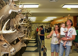 The Big Buck display attracts visitors during the annual West Virginia celebration of National Hunting and Fishing Day.