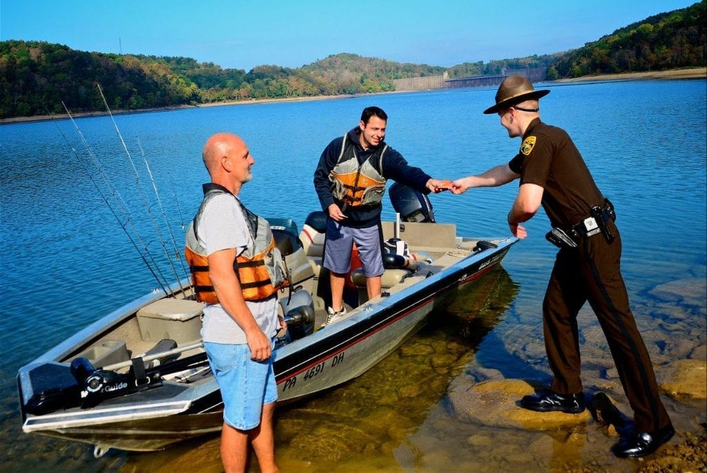West Virginia Natural Resources Police Officers will patrol for impaired boaters July 5-7.