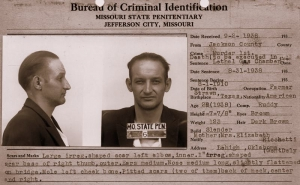 Adam Richetti as he appeared while of death row at the Missouri State Penitentiary in 1938.