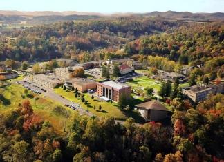 Autumn arrives on the campus at Alderson Broaddus University at Philippi, West Virginia.