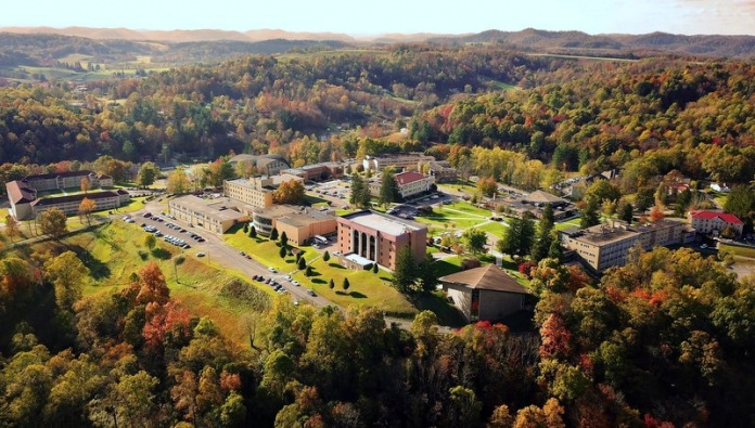 Autumn arrives on the campus at Alderson Broaddus University at Philippi, West Virginia.