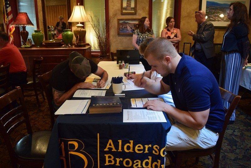 Students attend an Alderson Broaddus University meet-and-greet. Photo courtesy Alderson Broaddus.