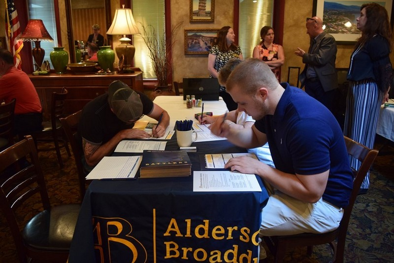 Students attend an Alderson Broaddus University meet-and-greet. Photo courtesy Alderson Broaddus.