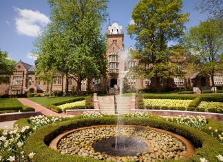 Old Main at Bethany University is among the most notable examples of Collegiate Gothic Architecture in the U.S.