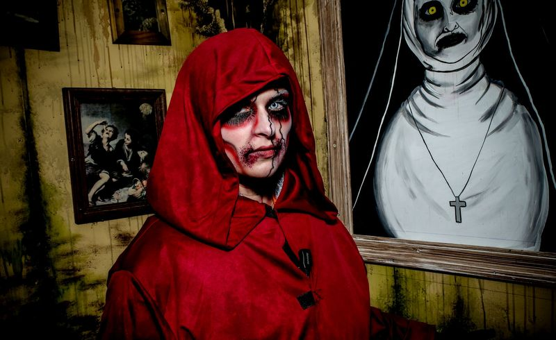 An actor portrays at ghoul during Fright Nights at The Resort at Glade Springs.