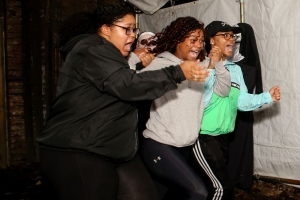 Patrons indulge in plenty of fearful fun during Fright Nights at Glade Springs near Beckley, West Virginia.