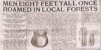 An 1907 article in the Wheeling News helped popularize the ancient giants myth.